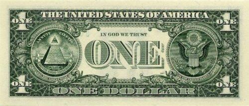 знаки масонов на долларе