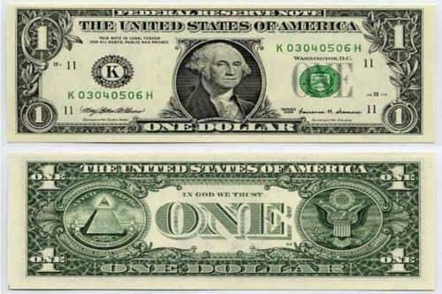 доллары и масонские знаки
